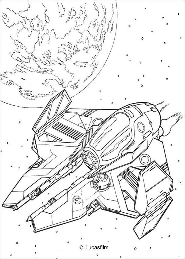 hellokids members love this spaceship of obi wan kenobi coloring page you can choose other coloring pages for kids from star wars coloring pages