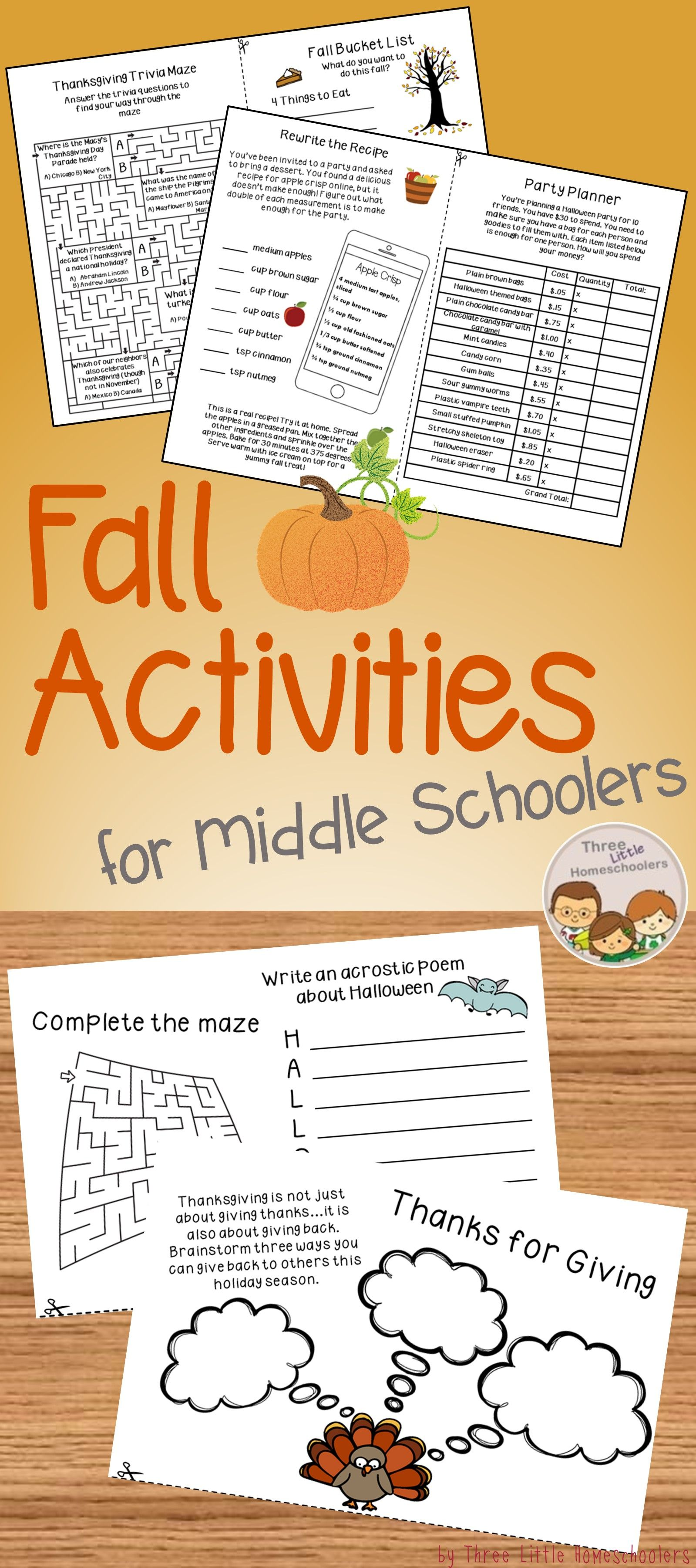 Fall Activities For Older Kids