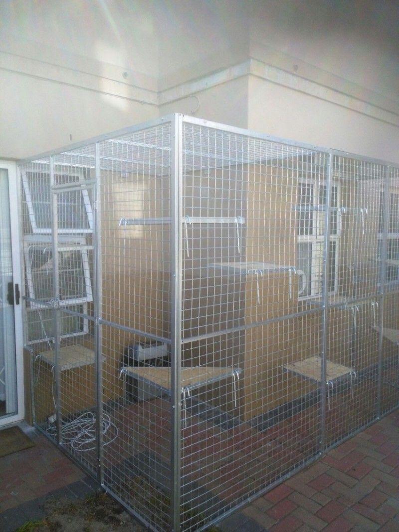 Cat Cage Custom builtBolt onto House Pet Creations Cat