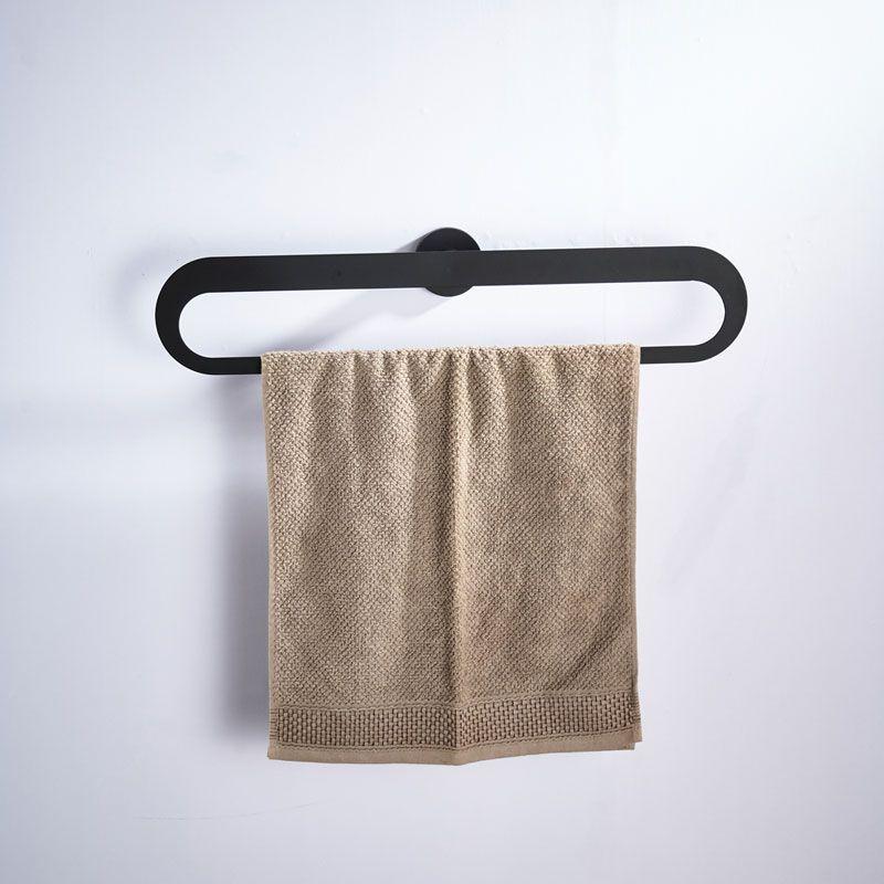 Handtuchhalter Wandmontage aus Edelstahl in Schwarz