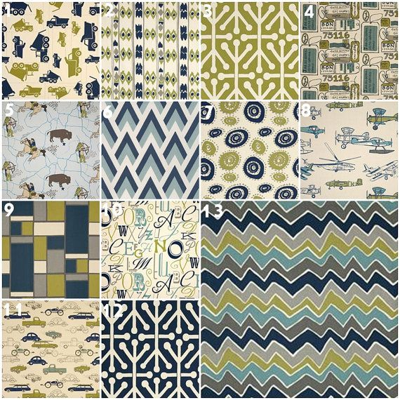 Modern Olive And Navy Crib Bedding Baby Bedding Crib Set