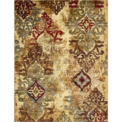 Unique Loom Barista Congencis Beige 9 0 X 12 0 Area Rug Area Rugs Rugs On Carpet Colorful Rugs