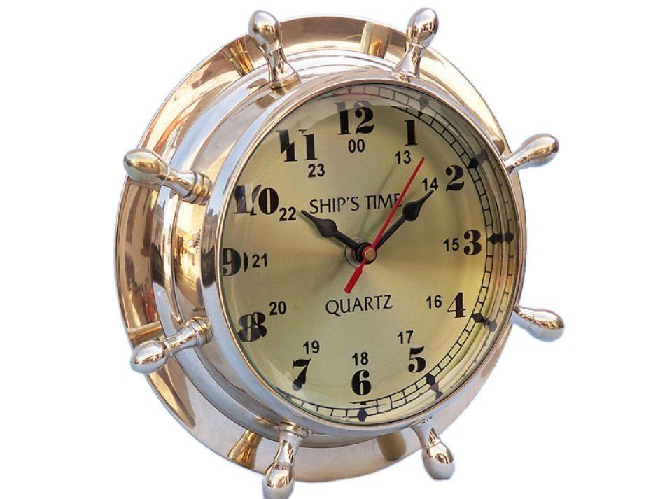 Double Dial Wheel Clock 8 Wheel Clock Nautical Clocks Clock