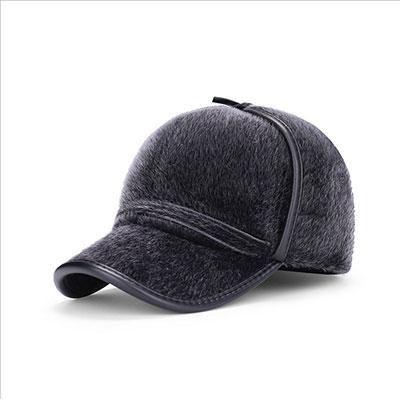 26f471cb38c 2018 New fashion Faux Fur baseball caps with earflaps men winter hats for  men hat snapback casquette bone suitable for 53-56cm