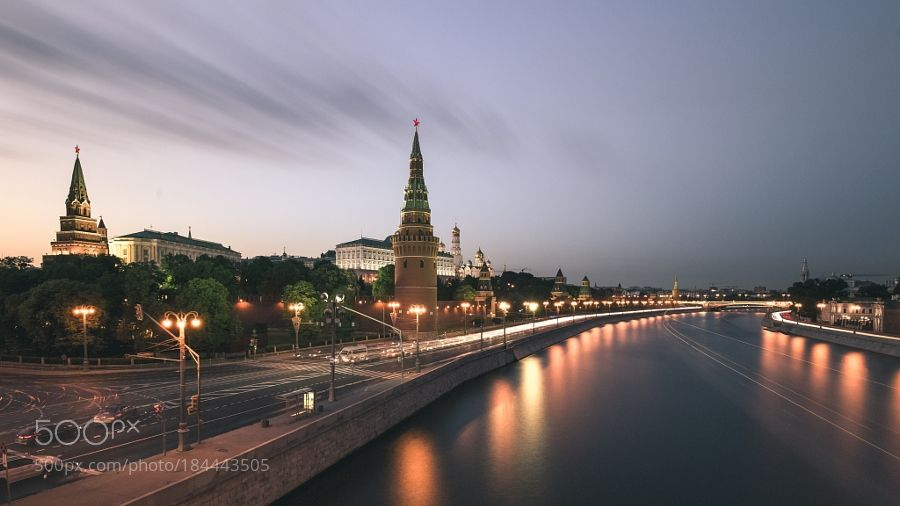 Moscow - Kremlin - Pinned by Mak Khalaf City and Architecture skyrussiacitymoscowstreetwaterrivertravelnightcloudsarchitecturecityscapesummerbuildingkremlinrussian federation by koribektas