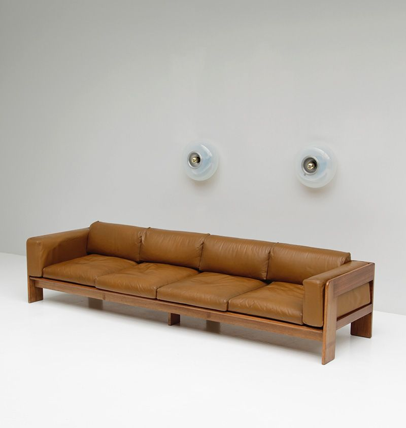 Tobia Scarpa XXL Cognac Leather Sofa