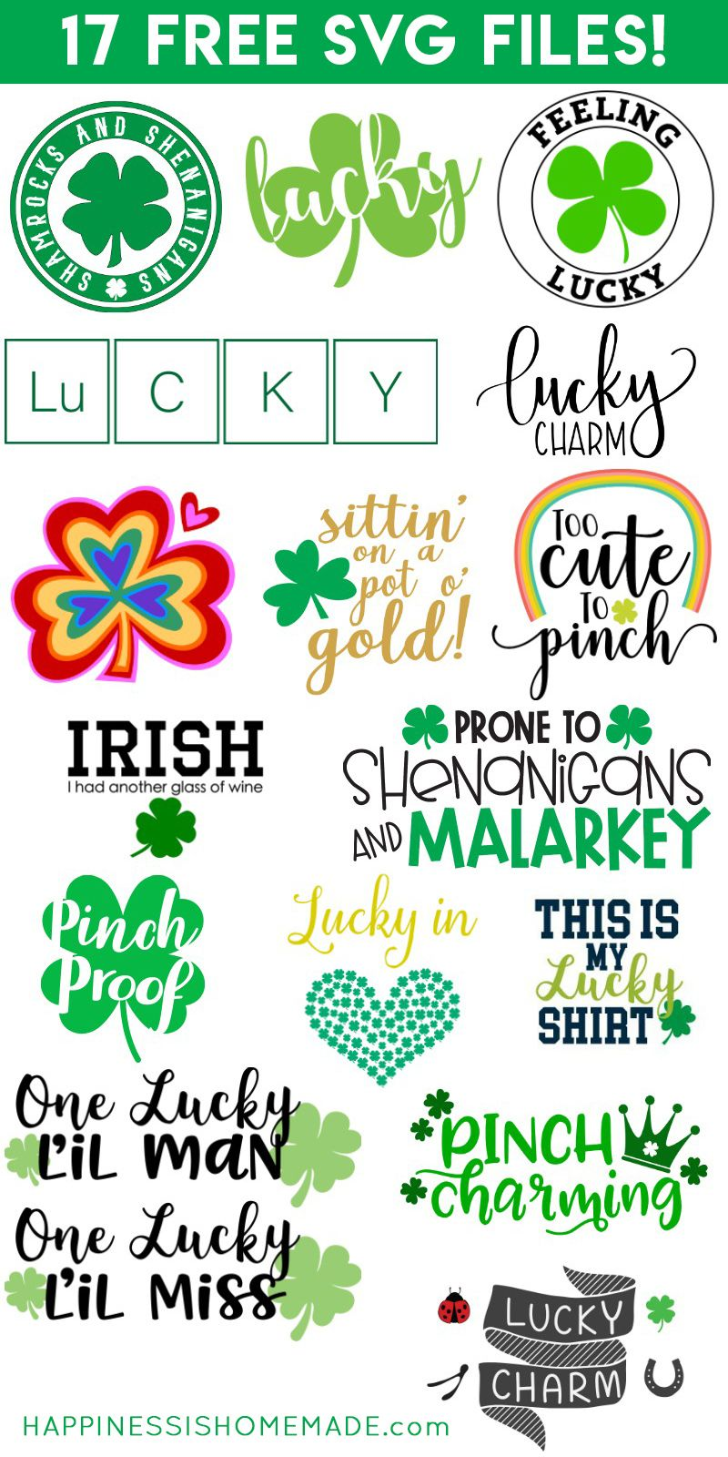 "Download ""Pinch Proof"" St. Patrick's Day Shirt + SVG Files 