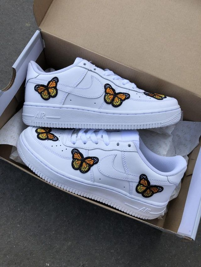 Butterfly Forces | Nike air shoes, Hype shoes, Aesthetic shoes