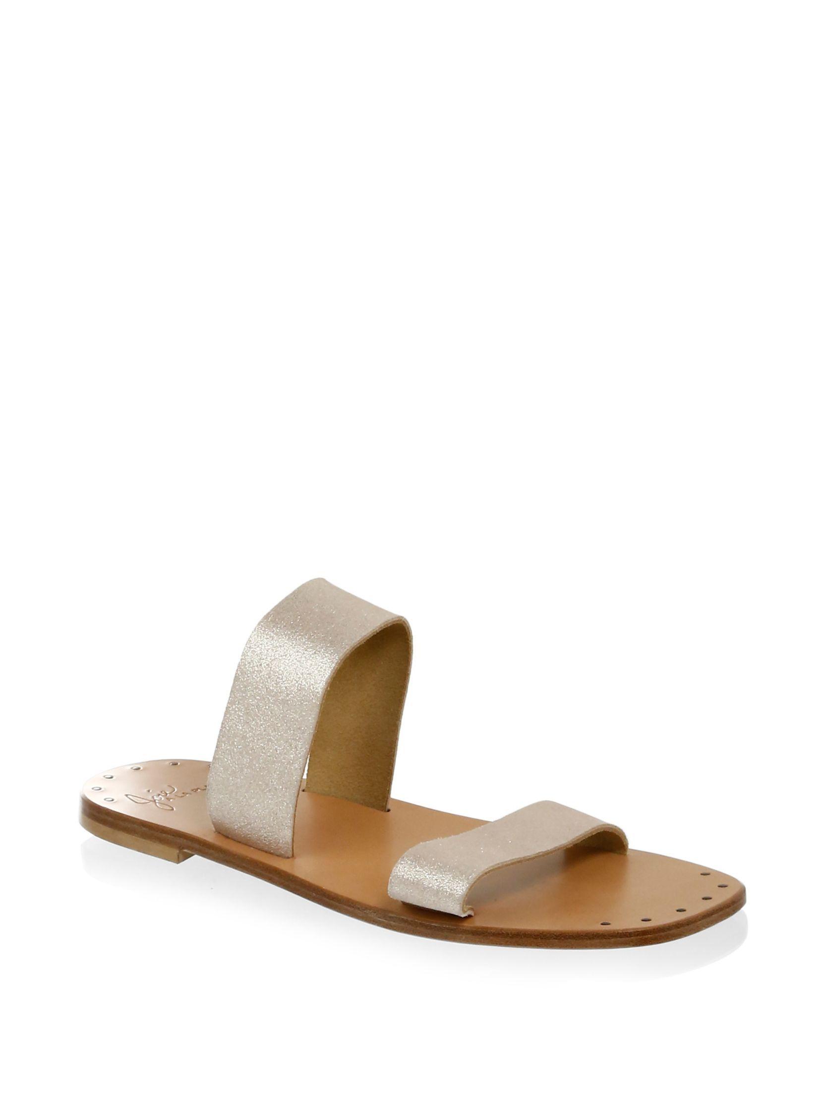 Joie Bannerly Metallic Leather Sandals I3rZCAA