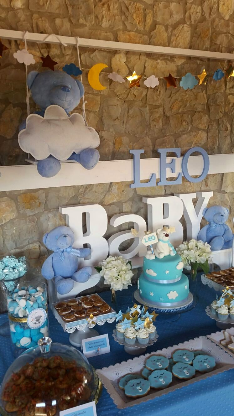 Decoraci n mesa dulce baby shower ni o decor babyboy - Mesa de baby shower nino ...