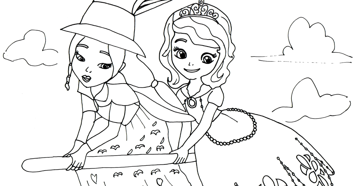 Click Here To Print Sofia The First Coloring Page With Lucinda From The Episode Witch Coloring Pages Disney Princess Coloring Pages Princess Coloring Pages