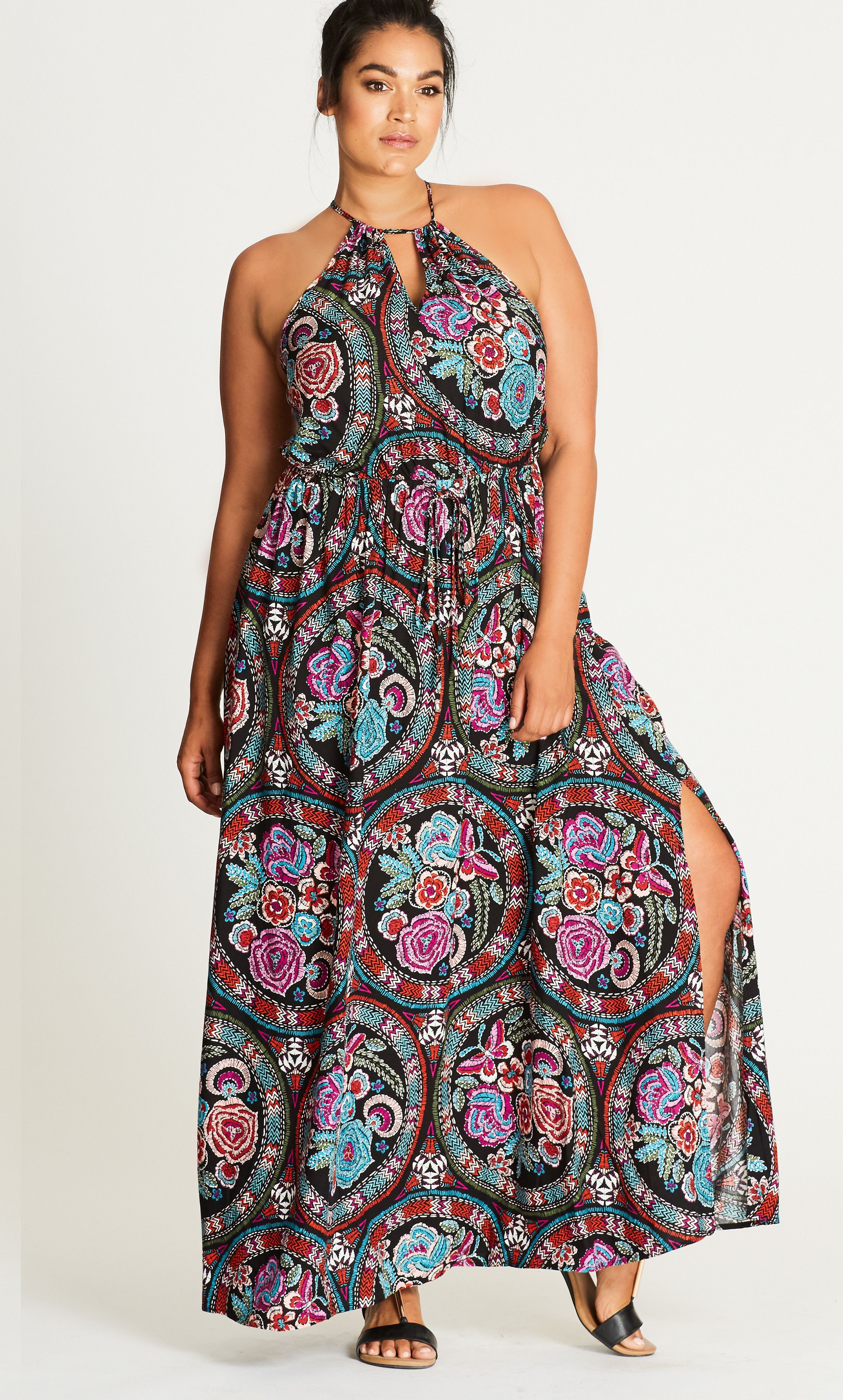 Folklore printed maxi dress very stylish in pinterest