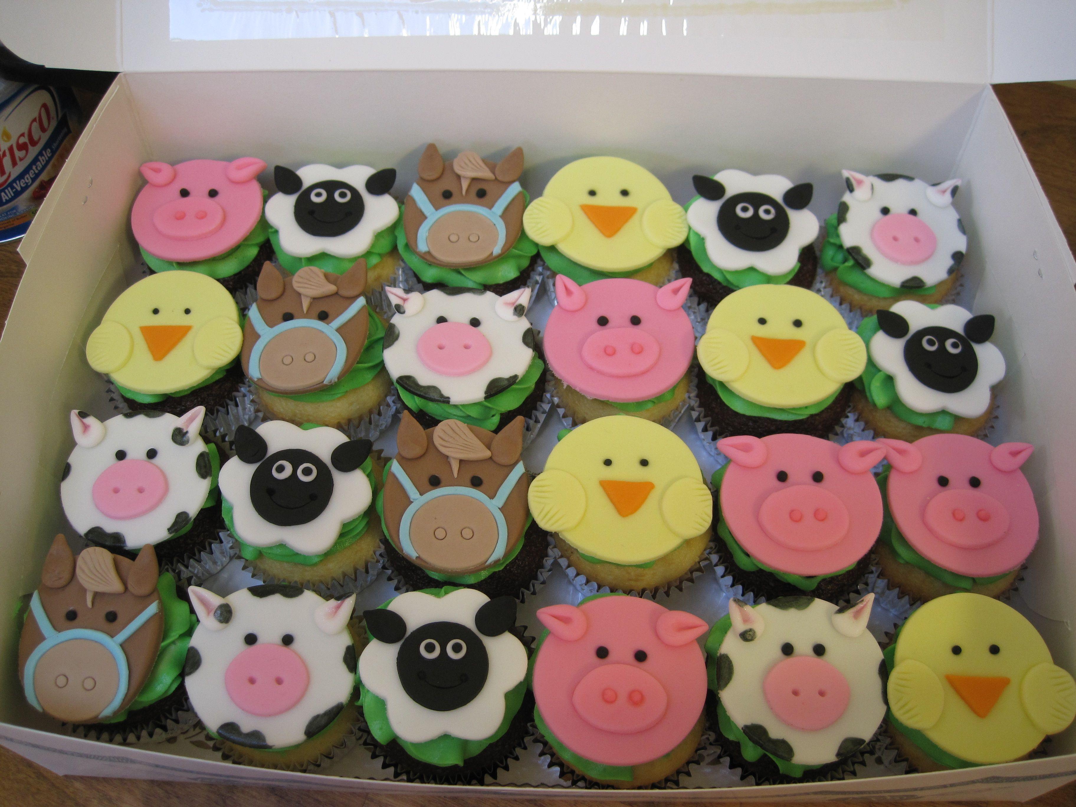 Farm Theme Cupcake Toppers Sadie S Turning 2 Animal