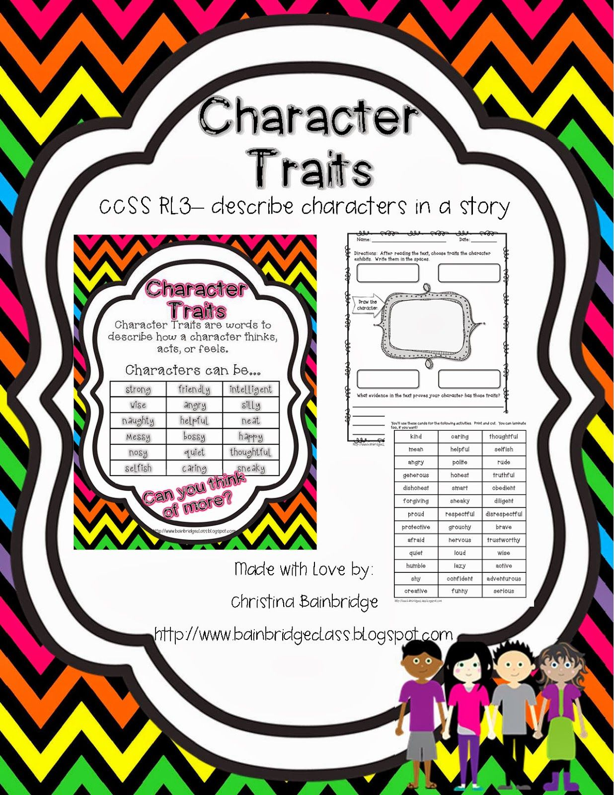 Character Traits We Did Lots Of The Activities Out Of My