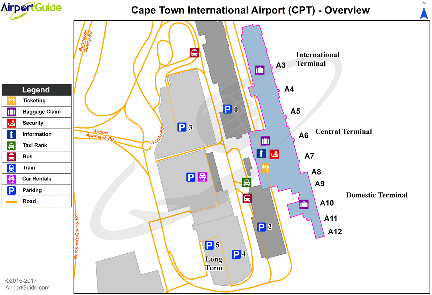 Cape Town Cape Town International Cpt Airport Terminal Map Overview Airport Map Airport Guide Airport Design