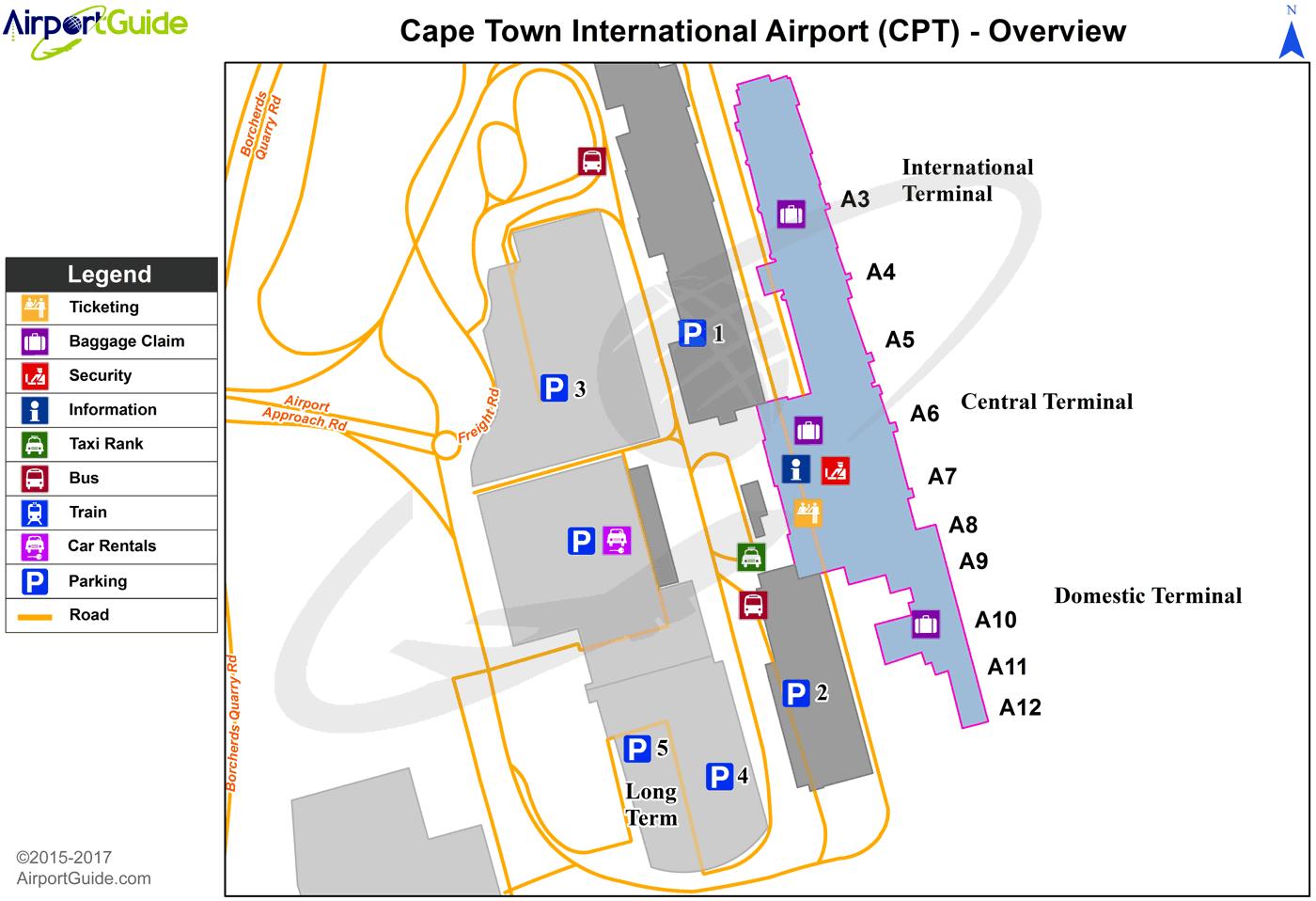 Flughafen Kapstadt Plan
