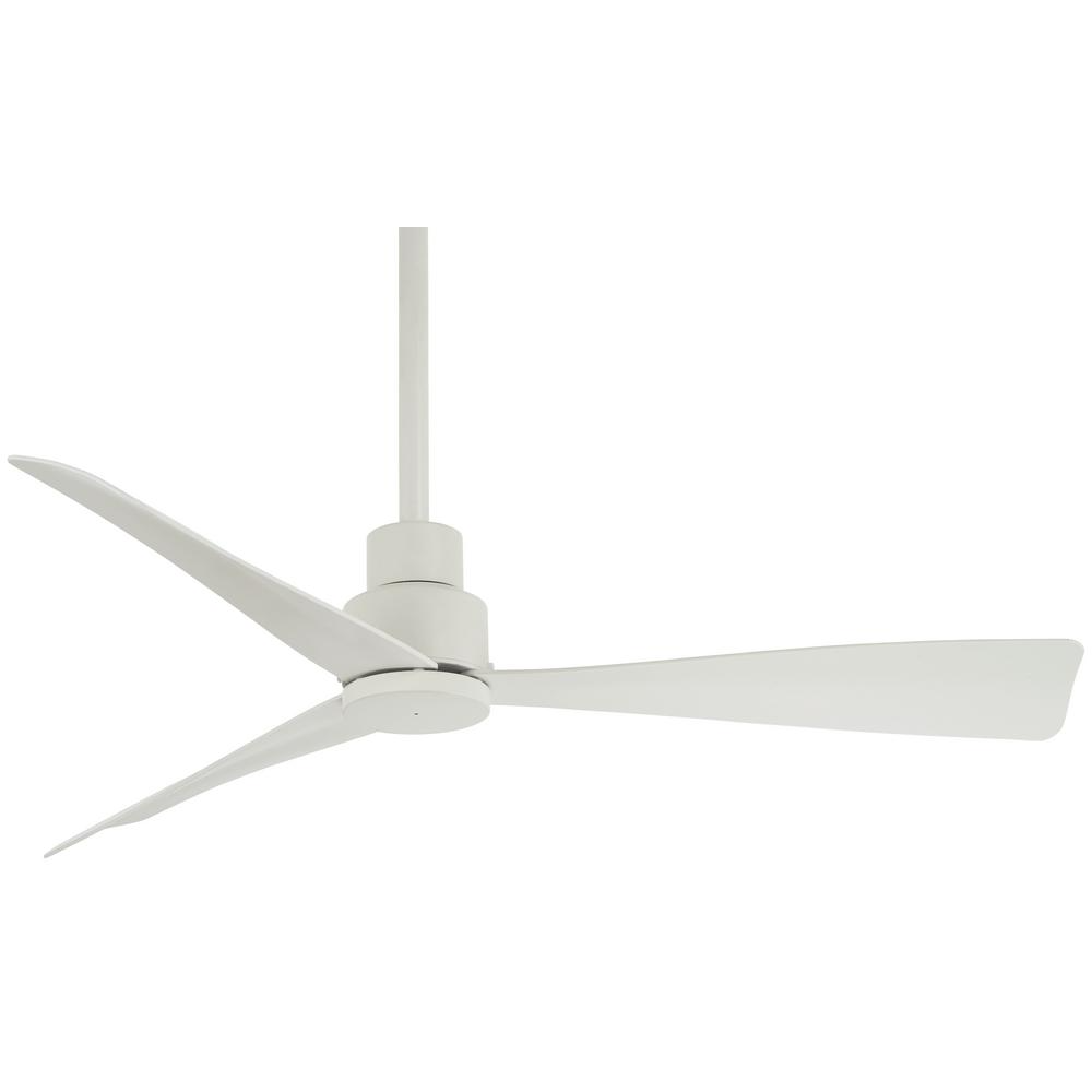 Minka Aire Simple 44 In Indoor Outdoor Flat White Ceiling Fan With Remote Control F786 Whf The Home Depot In 2021 White Ceiling Fan Ceiling Fan Ceiling Fan With Remote Minka aire simple ceiling fan
