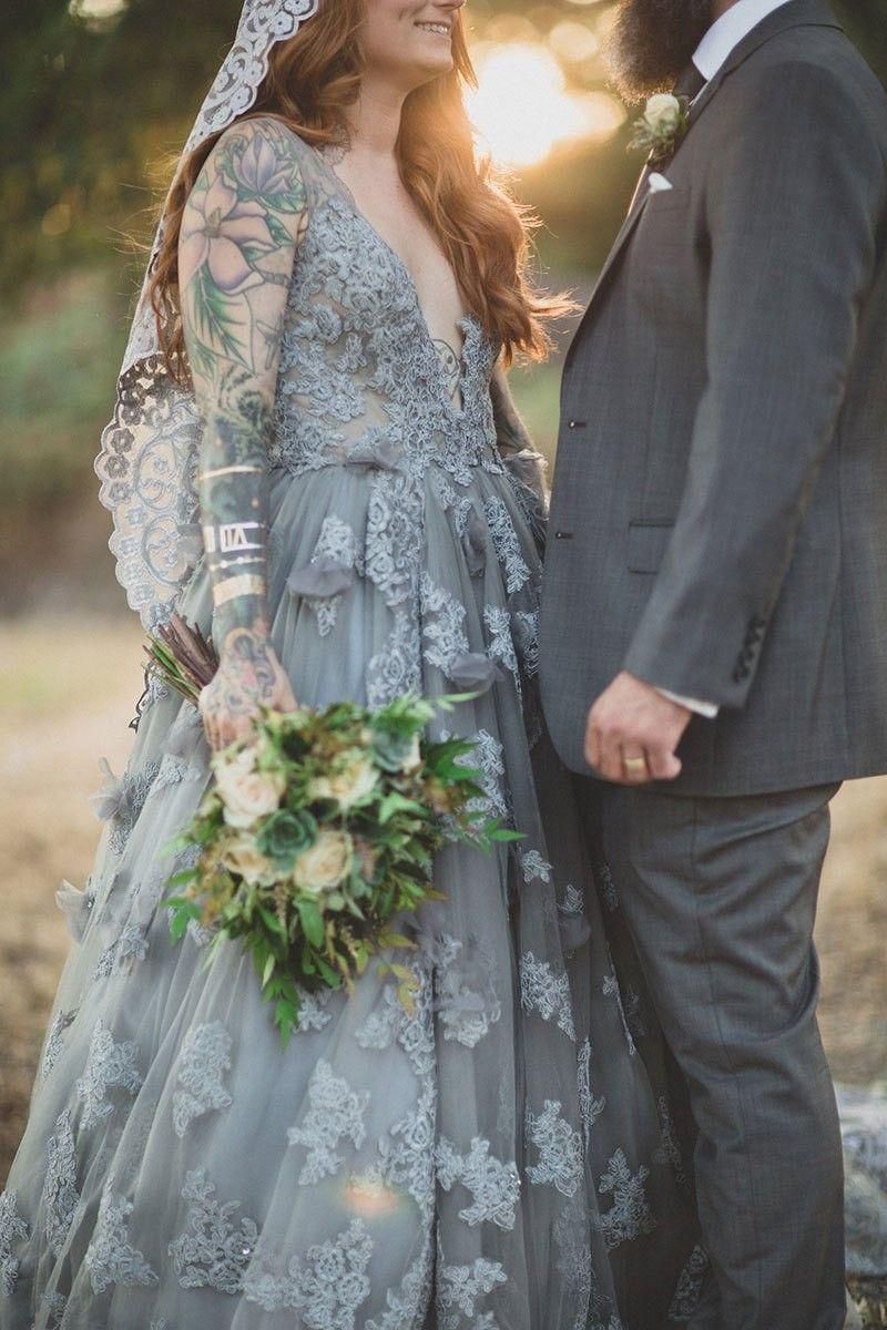 Gray dress for wedding party  Wedding in grey dress  Wedding Dresses  Wedding Attire  Wedding