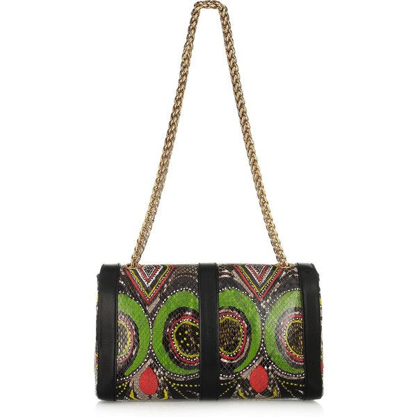 Christian Louboutin Sweet Charity small printed python shoulder bag  ( 3,595) ❤ liked on Polyvore 9137c1656f