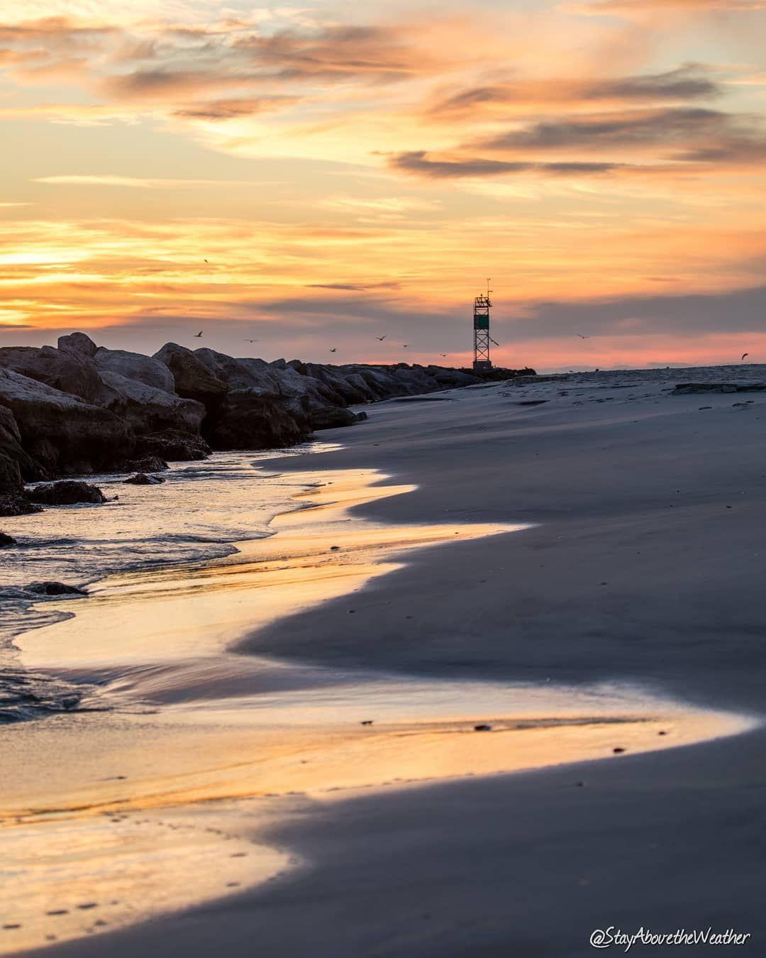 Long Beach Island New Jersey: Mornings At The Jetty. #lbi #stayabovetheweather #nj