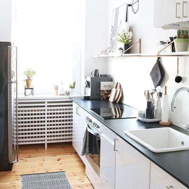 Ich sende euch liebe Grüße aus meiner kleinen Küche und wünsche euch - einbauküchen für kleine küchen