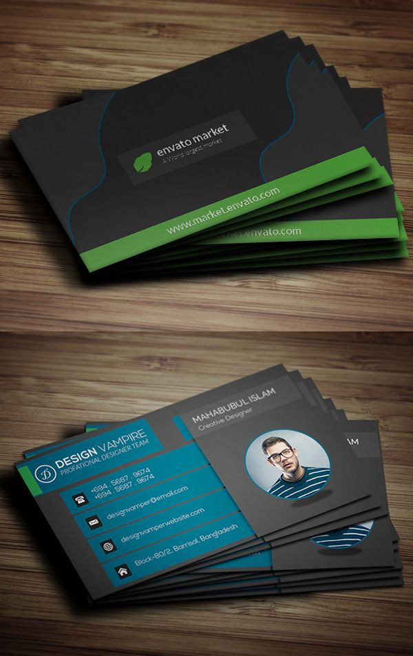 Creative business card template free download visiting cards creative business card template free download reheart Image collections