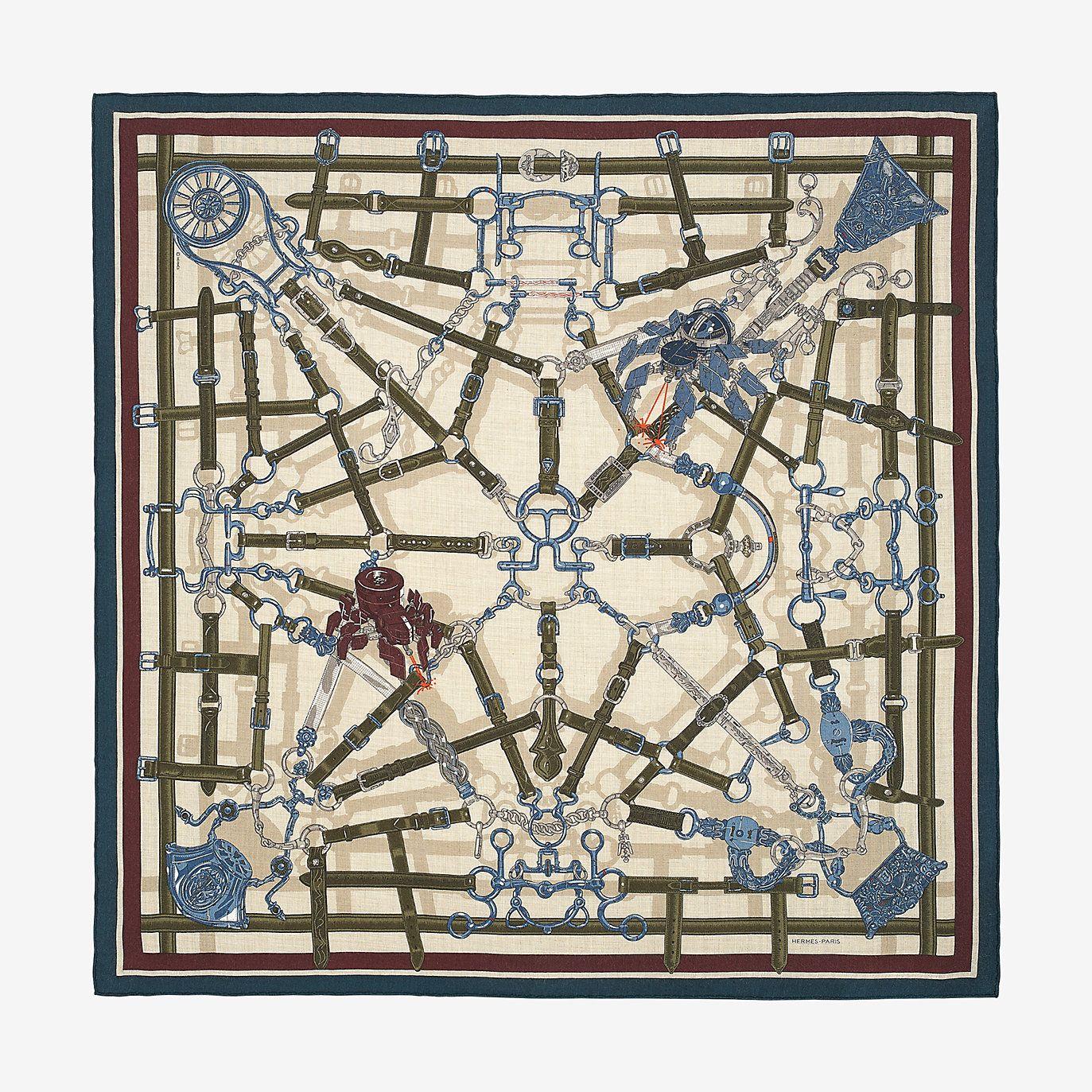 f322dd7871 Hermès - Flamboyant Web (cashmere et soie) (100x100) | Carrés ...