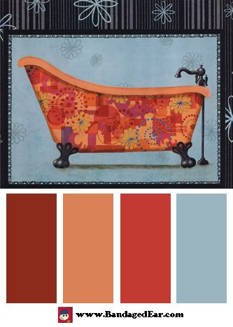 Farb-und Stilberatung mit www.farben-reich.com - Bathroom Color Palettes