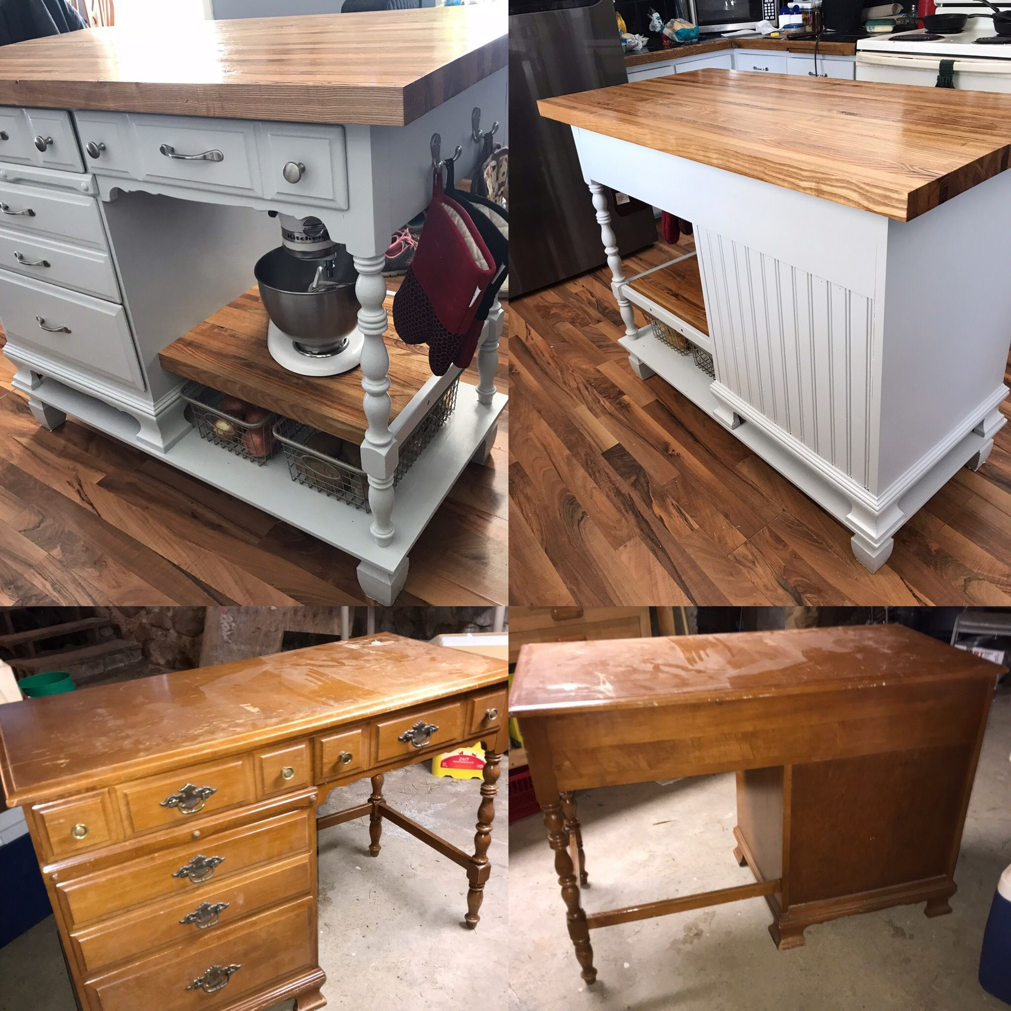 Kitchen Islands Made From Desks And How To Do It Diy Kitchen
