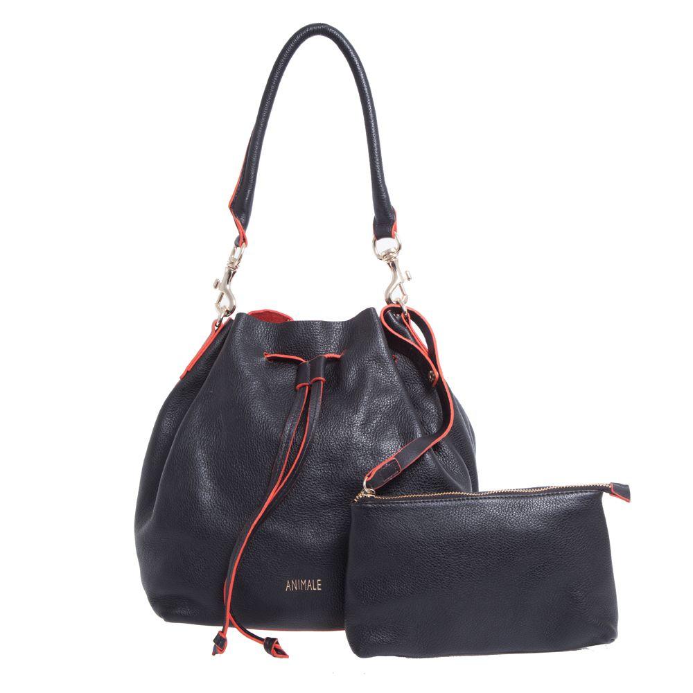 c4ed794ba Bolsa saco Animale soft casual - preta | Bolsas e carteiras ...