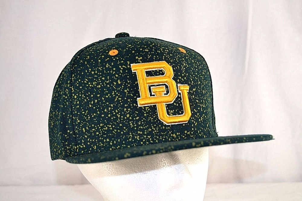 4480c0fa53b Baylor University Bears Green Yellow Baseball Hat Cap Snapback