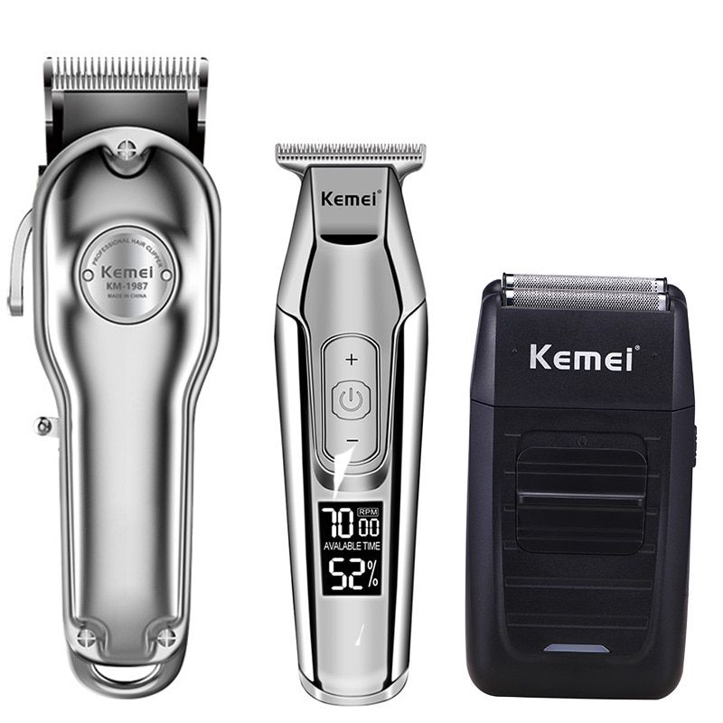 Hair Trimmer Barber Clippers Kemei Km 2850 Pg Hair Clipper Rechargeable Haircut Hair Machine Lcd Display Oilhead Clipper Hair Clippers Hair Cutter Hair Trimmer