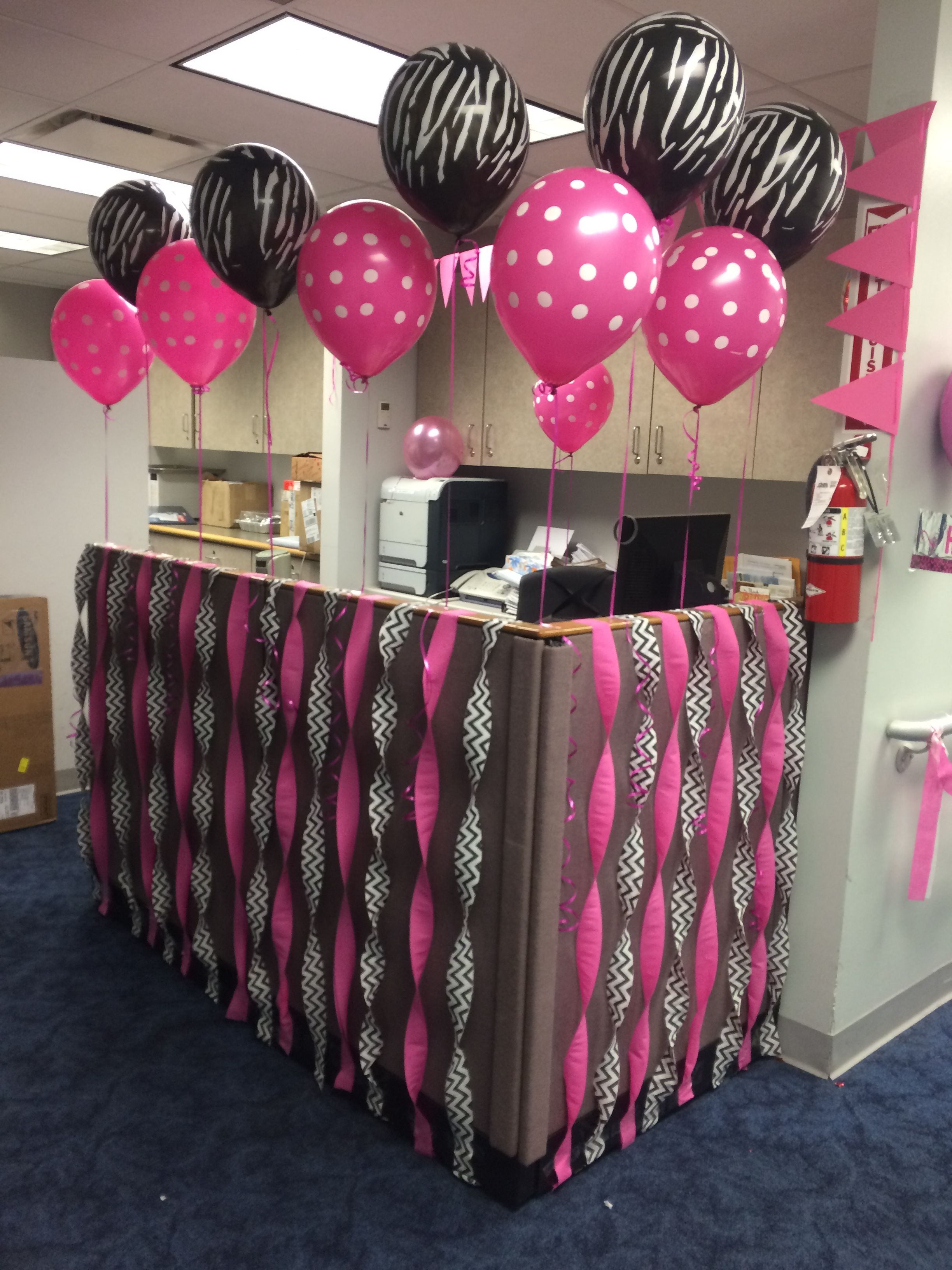 Office Birthday Decoration Ideas Decorations Cubicle Party Boss Wishes Also Pin