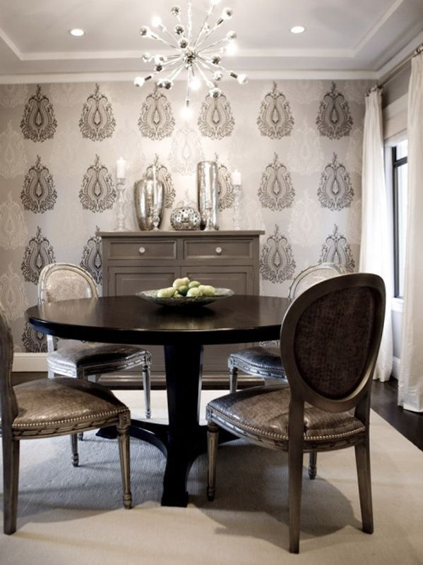 Pin By Yeteast Ashley Green On Home Decor Small Dining Room Decor Fine Dining Room Dining Room Wallpaper