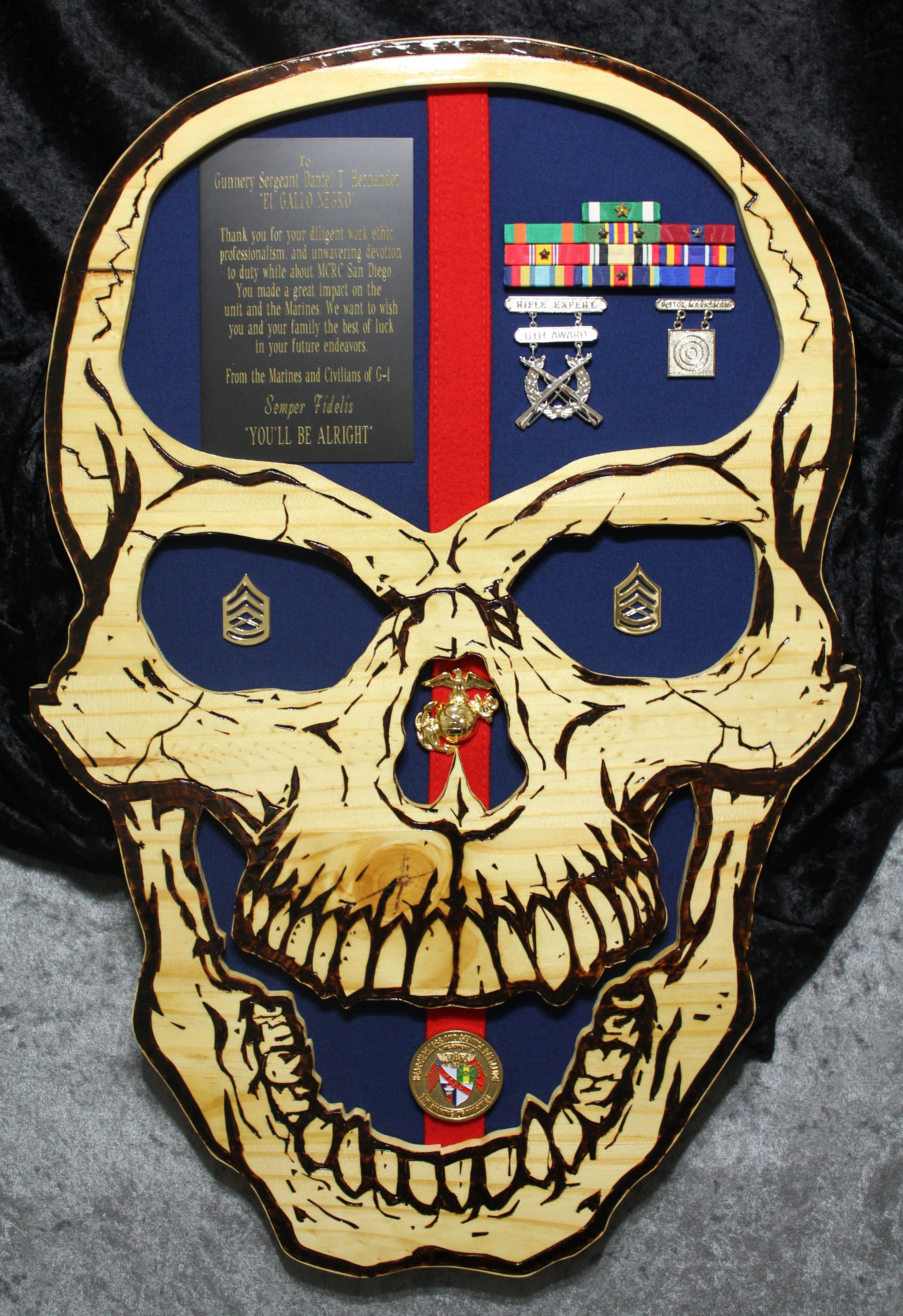 USMC plaque Questions on design or price contact Lunawood1775@gmail.com  More Pins Like This At FOSTERGINGER @ Pinterest