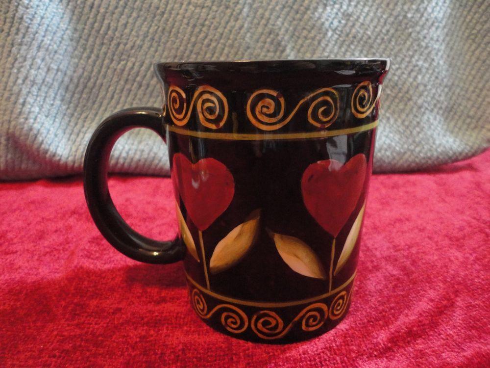 """Lang & Wise JUMBO Mug Coffee Tea Earthenware Lang """"Romance"""" Karen Hillard Crouch #LangWise"""