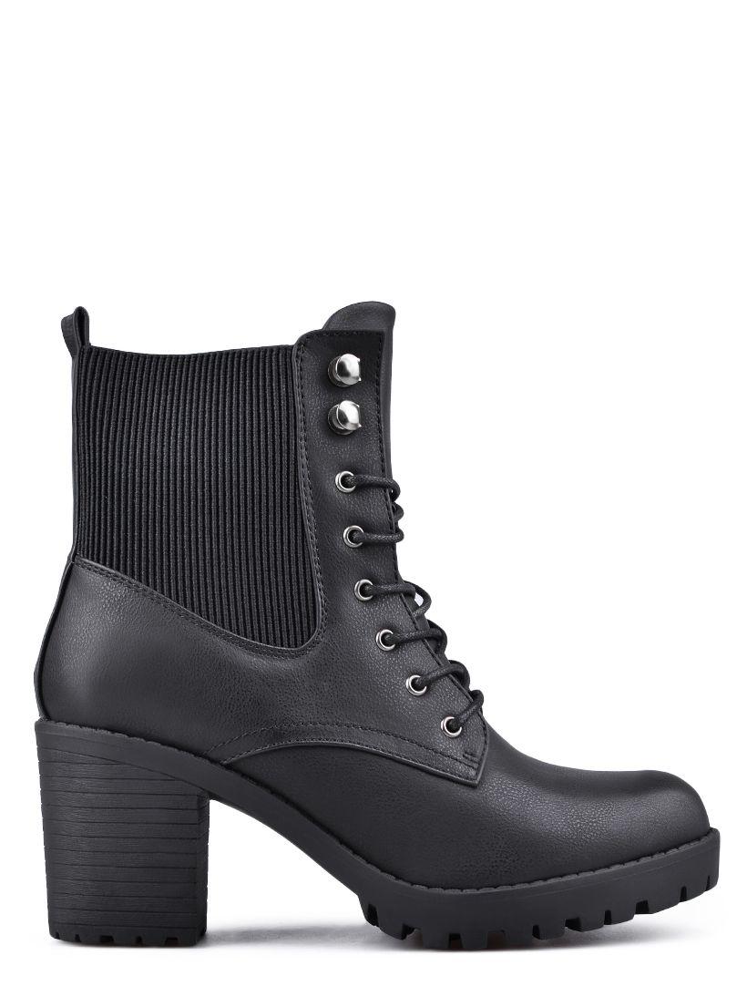 cfd435e15 Dámske členkové topánky na podpätku TENDENZ - čierna | Ankle boots ...