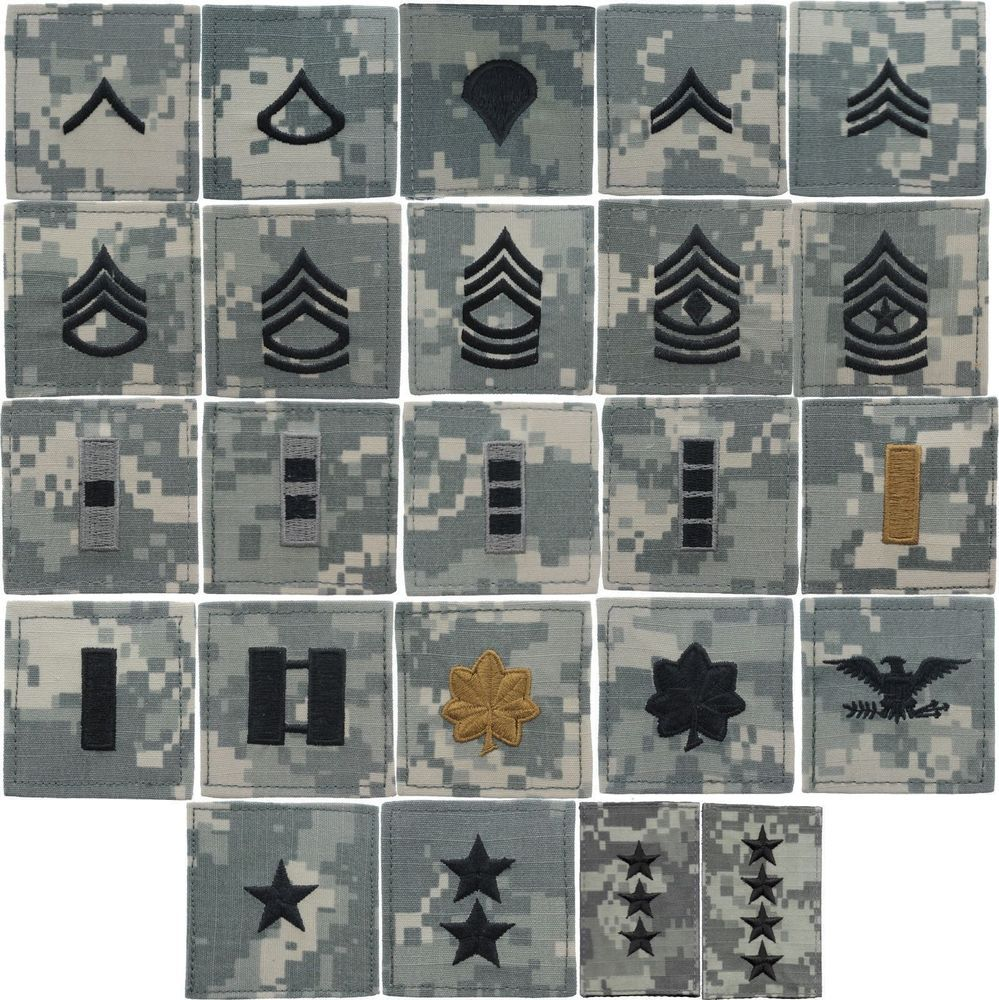 ... Tactical M65 Coat Uniform Army  78bd1 55e4d ACU Digital Camouflage US  Army Military Rip-Stop Rank Insignia Patch USA Made ... 7b0f35a5119