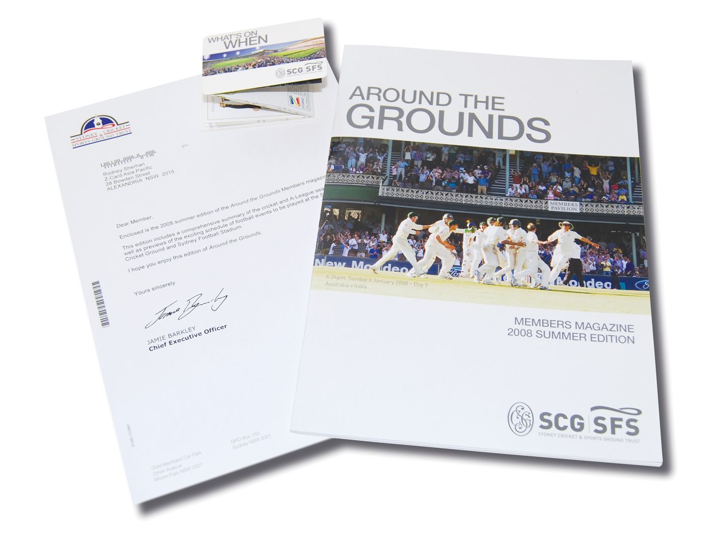 SCG Z-CARD with Membership Magazine and A4 Letter   Z-CARD