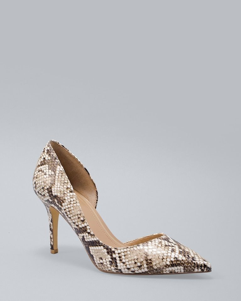 a6d0e271237 Women s Snake-Embossed Leather D Orsay Heels by White House Black Market