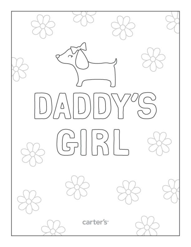 Daddy's girl color sheet Daddy day, Mom day, Adult