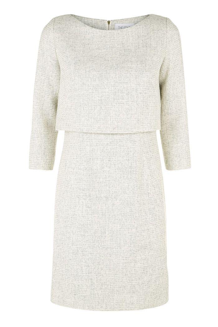 Northcote Dress Winter White - The Fold | thefoldlondon.com