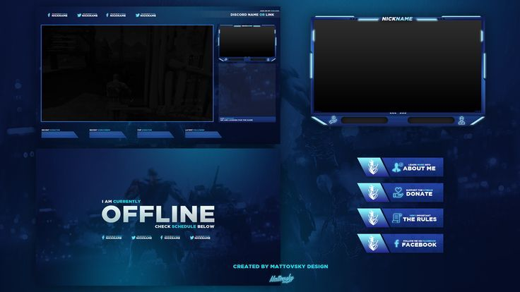 FREE TWITCH STREAM OVERLAY TEMPLATE 2018 5 on Behance