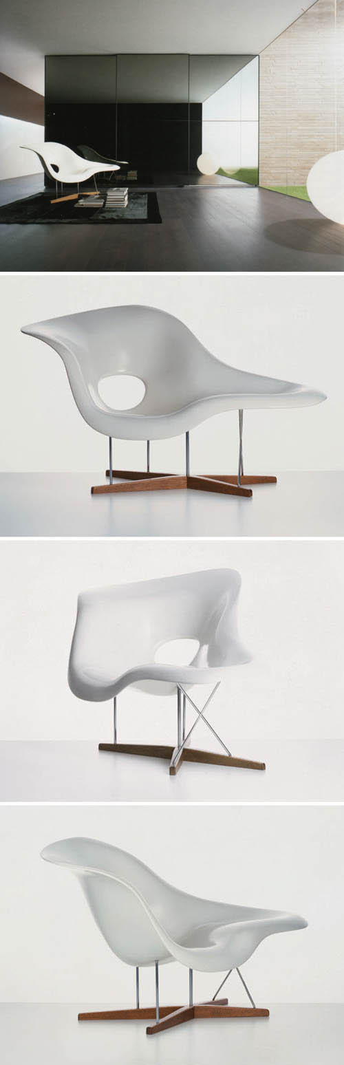 Vitra 41210001 Vitra La Chaise 59 Sculptural Lounge Chair By Eames