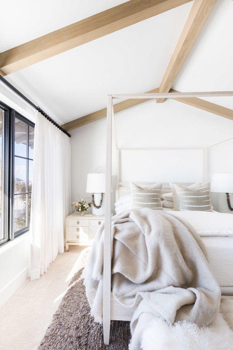 Visite Deco Home Tour Blog Design Chalet Blanc Montagne Park City Chambre  Cosy Tapis Moelleux Deco Style Chalet Blanc #chambre #cosy #hygge #montagne  ...