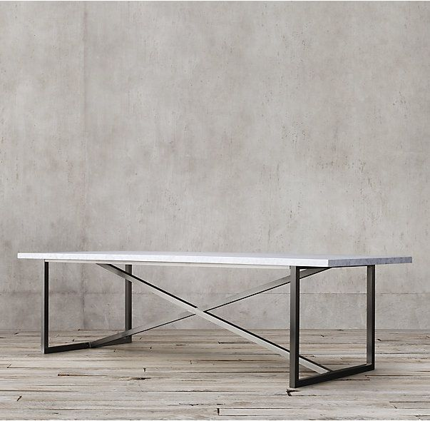 Torano Marble Rectangular Dining Table Dining Table Marble Metal Base Dining Table Metal Dining Table