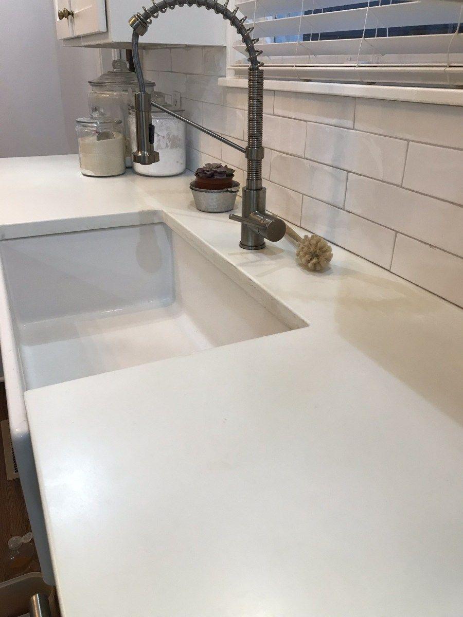 White Concrete Countertop Pigment With Images White Concrete
