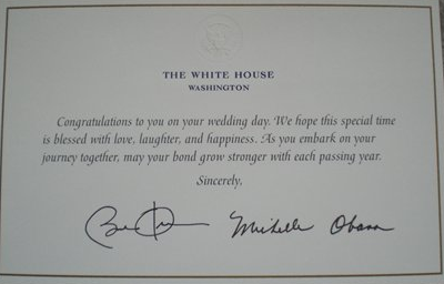 Note To Self Invite Barack And Michelle Wedding Ideas