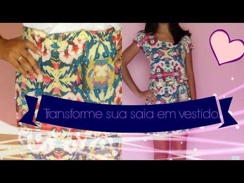 DIY- transforme sua saia em vestido Painel - YouTube