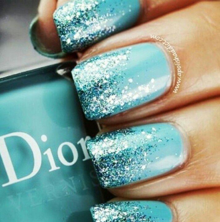 Pretty Nail Design~ Blue and Silver Winter Nail Art - Resultado De Imagen De Tiffany Blue Stuff Menta!/ Mint Green